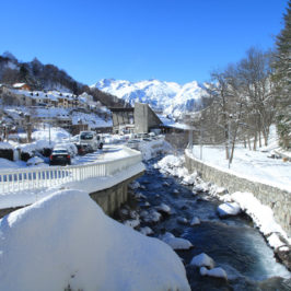 Barèges sous la neige en février 2013
